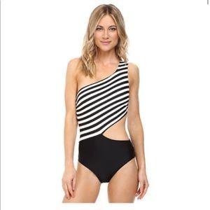 Michael Kors one shoulder swim suit